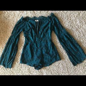 Tobi Lace Romper / Size Small